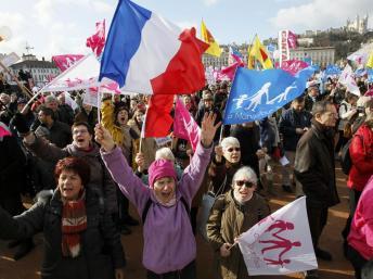 French protestors