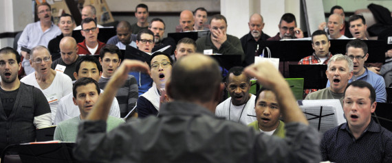 The Gay Men's Chorus of Washington D.C:  Rehearsal for Holiday Concert